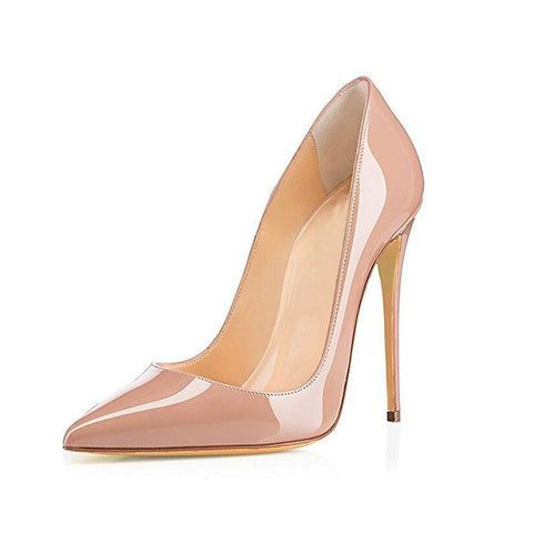 Women Pumps Heeled Shoes Nude Pointed Toe Sexy High Heel Shoes