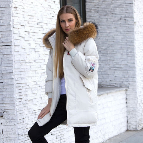 Her Fashion Warm Jacket Thicken Hood Winter Coat Women's Cotton Parka