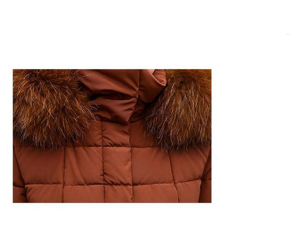Winter Fur Collar Parka Coats Her Fashion Full Sleeve Warm Outwear