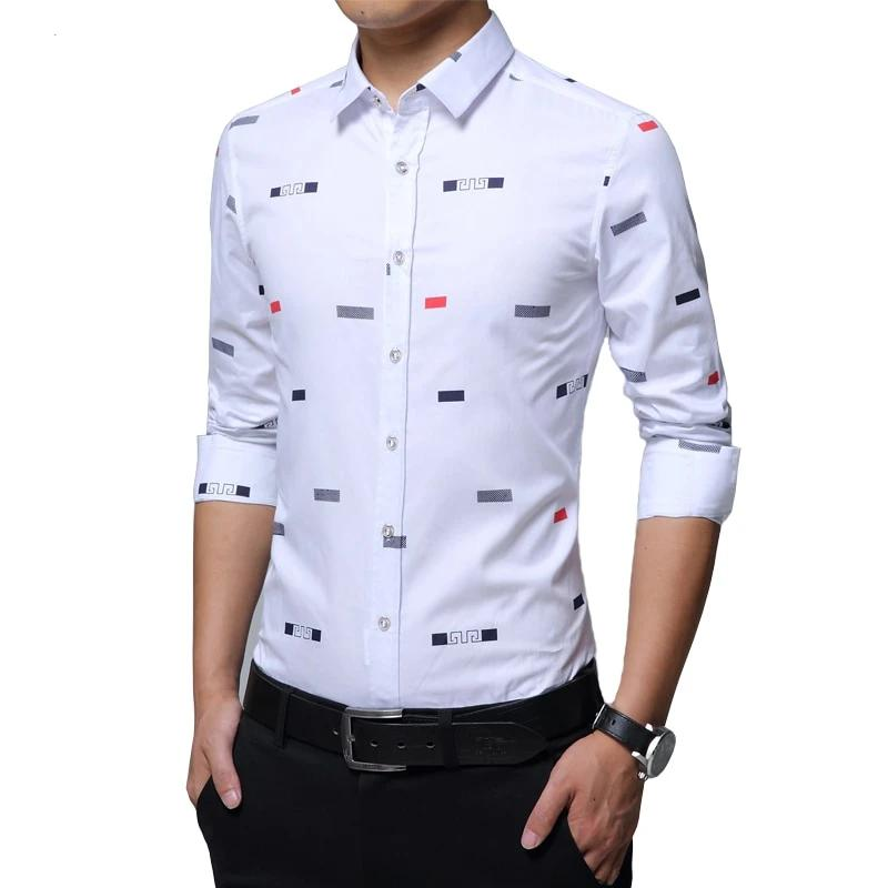 Casual Men's Shirt Mix Cotton Unique Design Buttons Down Dress Shirts