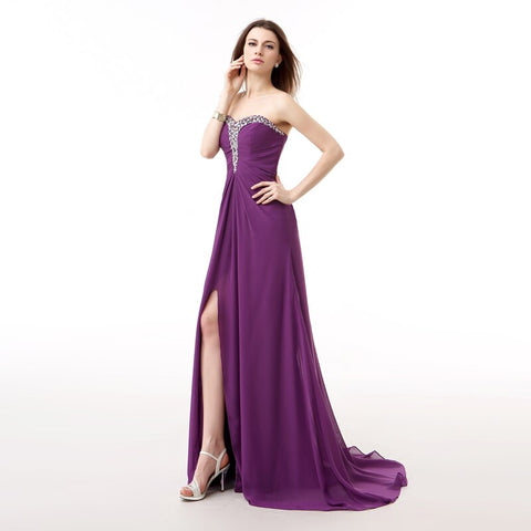 Off Shoulder Chiffon Crystal Evening Dress Beaded Kaftan Prom Dresses