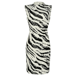 Sexy Stripe Print Sleeveless Mini Bodycon Her Fashion Womens Dress