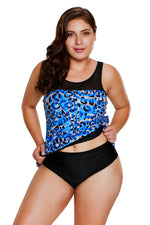 Her BIG'n'BOLD Seaglass Mirage Asymmetric Mesh Detail Tankini Swimsuit