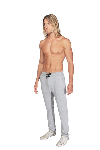 Damian moto sweats in heather grey - DE LA COMMUNE x Reese De Luca