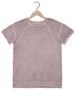 Tigran Bamboo Tee in Rose Quartz