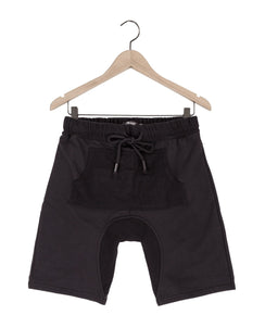 Jasper kangaroo sweat shorts in black - DE LA COMMUNE x Reese De Luca