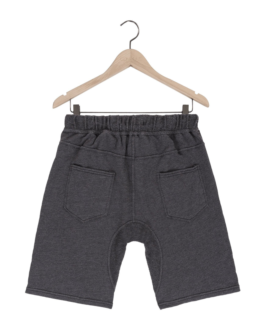 Jasper kangaroo sweat shorts in graphite mix - DE LA COMMUNE x Reese De Luca