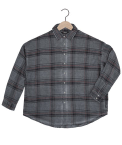 Parson Plaid Shirt in Slate Grey