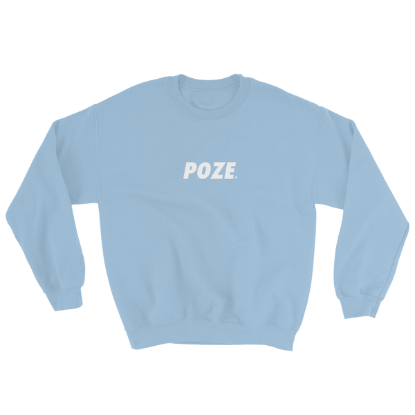 Light Blue - Poze Sweatshirt - Unisex