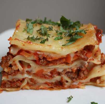 LASAGNA MEAT OR CHEESE