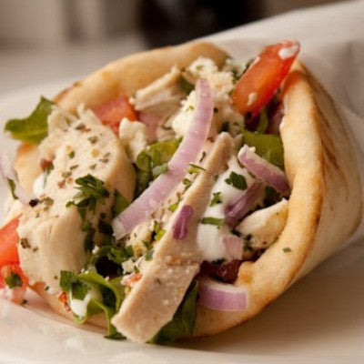 CHICKEN GYROS ON PITA