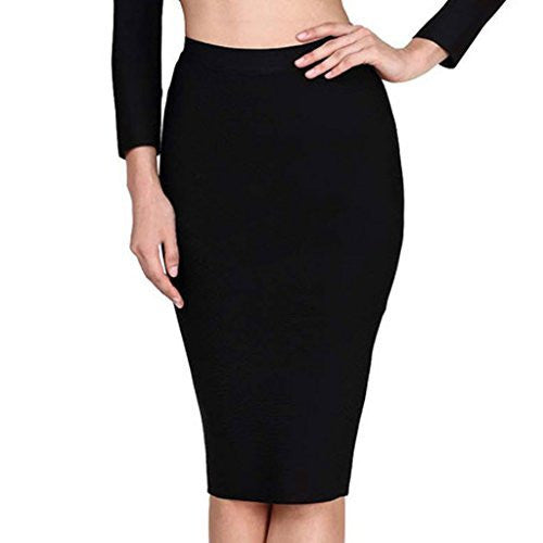 Women's Sexy Elastic Bandage Bodycon Party Midi Skirt