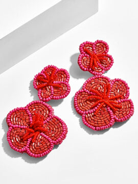 Rosa Flower Drop Earrings
