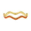 Colored Stone Wavy Stack Band
