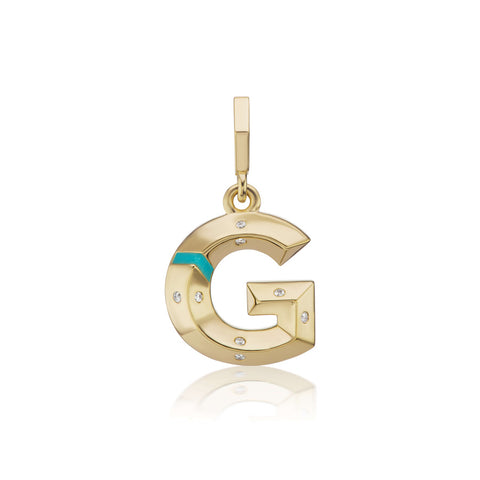 Scattered Diamond and Enamel Initial Charm