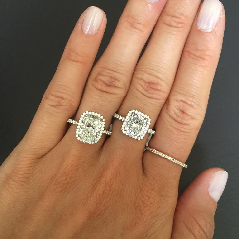 Emerald Cut Halo Enement Rings | Classic Halo Engagement Ring Stephanie Gottlieb Fine Jewelry