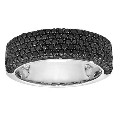 5 Row Black Diamond Band