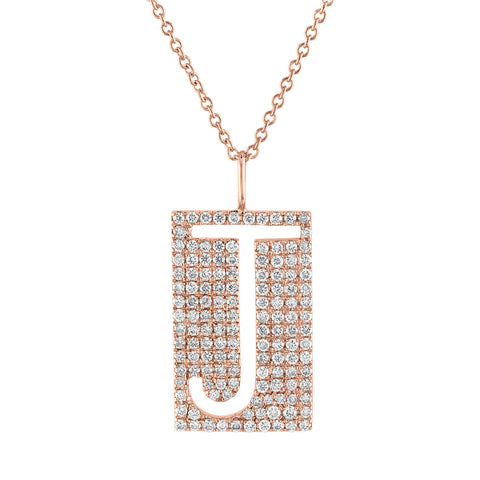 Diamond Initial Cutout Pendant