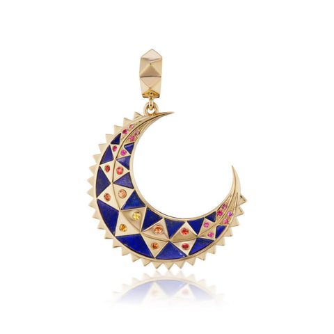 Mini Crescent Inlay Charm