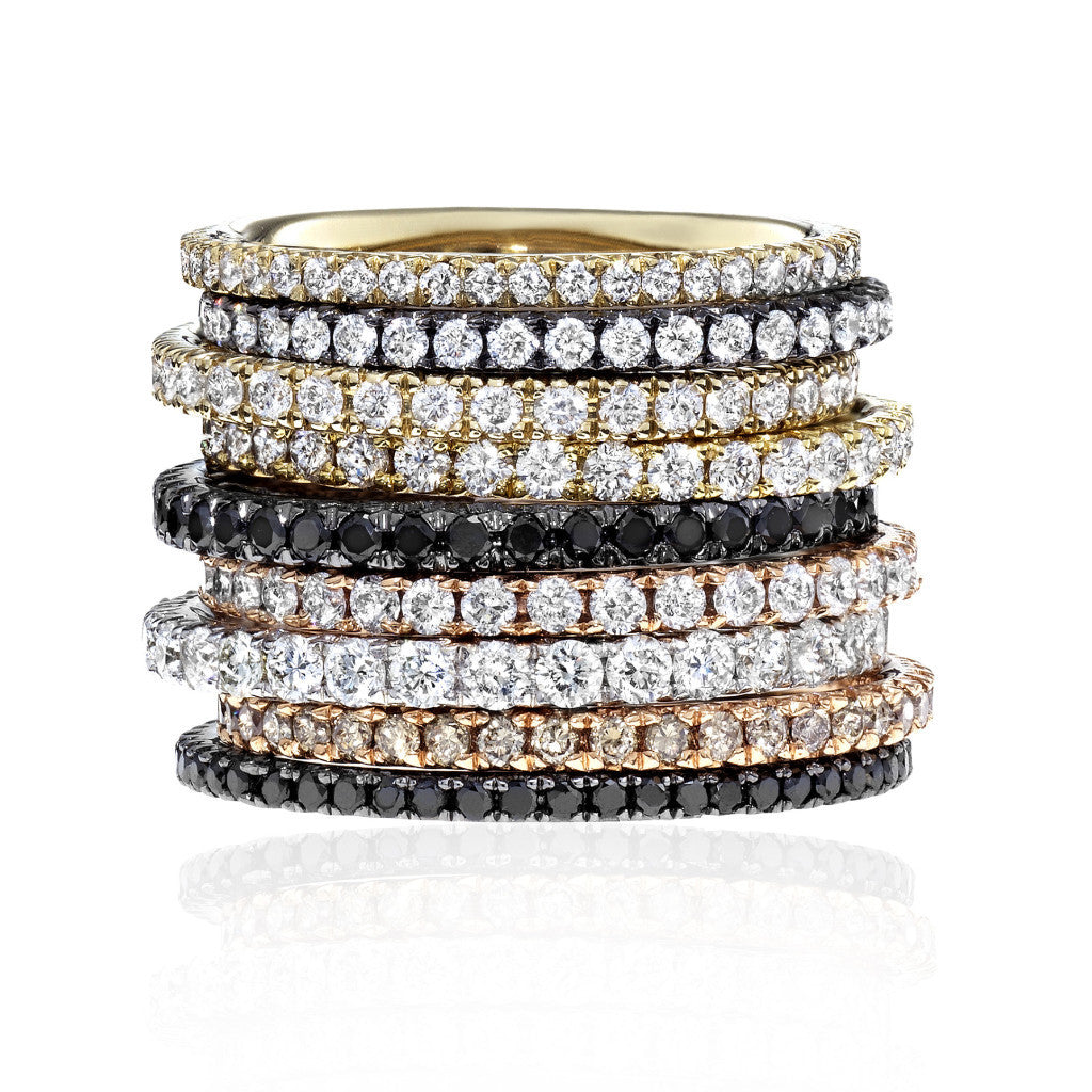 Pave Stacking Bands
