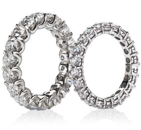 U-Shape and Shared Prong Eternity Bands