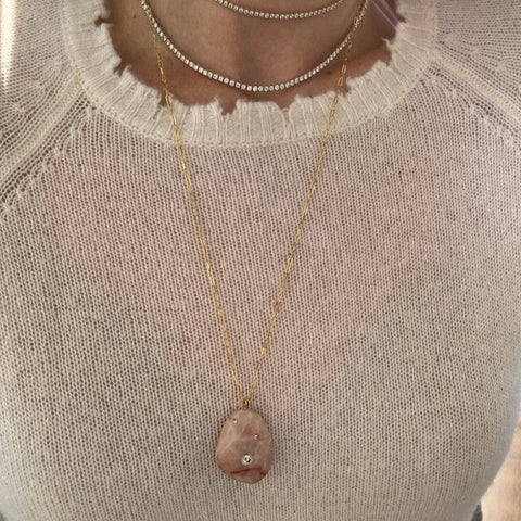 Rosa Stone Necklace
