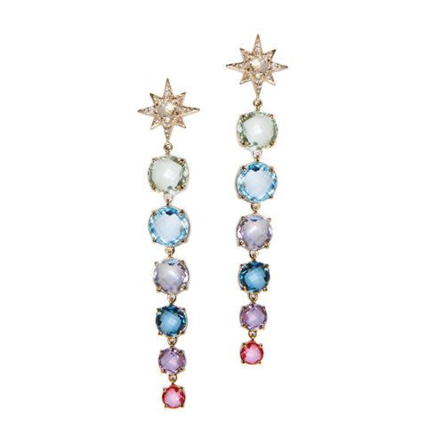 Colored Aztec Starburst Earrings