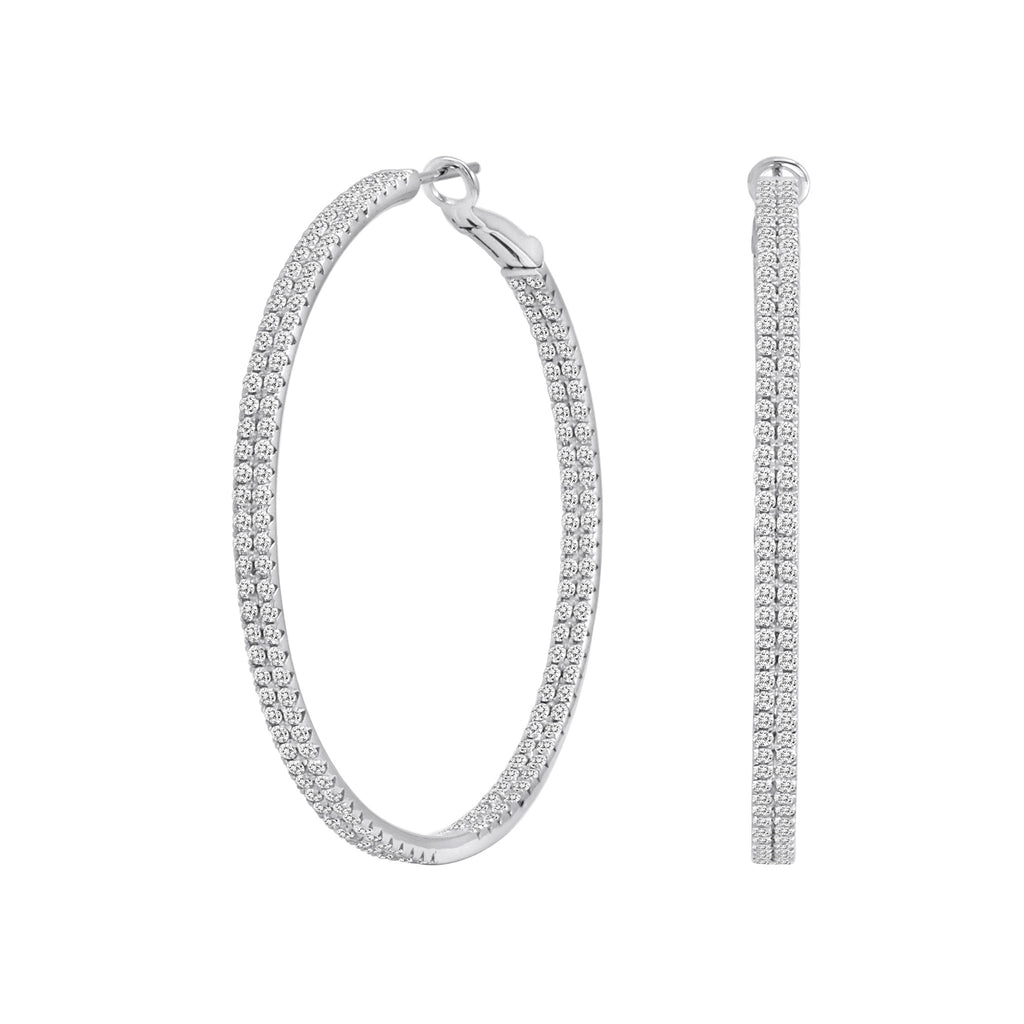 Two Row Diamond Hoops
