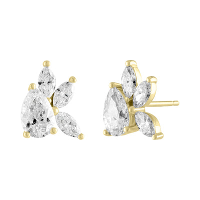 pear and marquise diamond cluster earrings gottlieb
