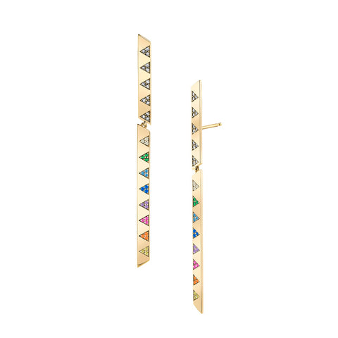 Dangling Rainbow Stick Earrings