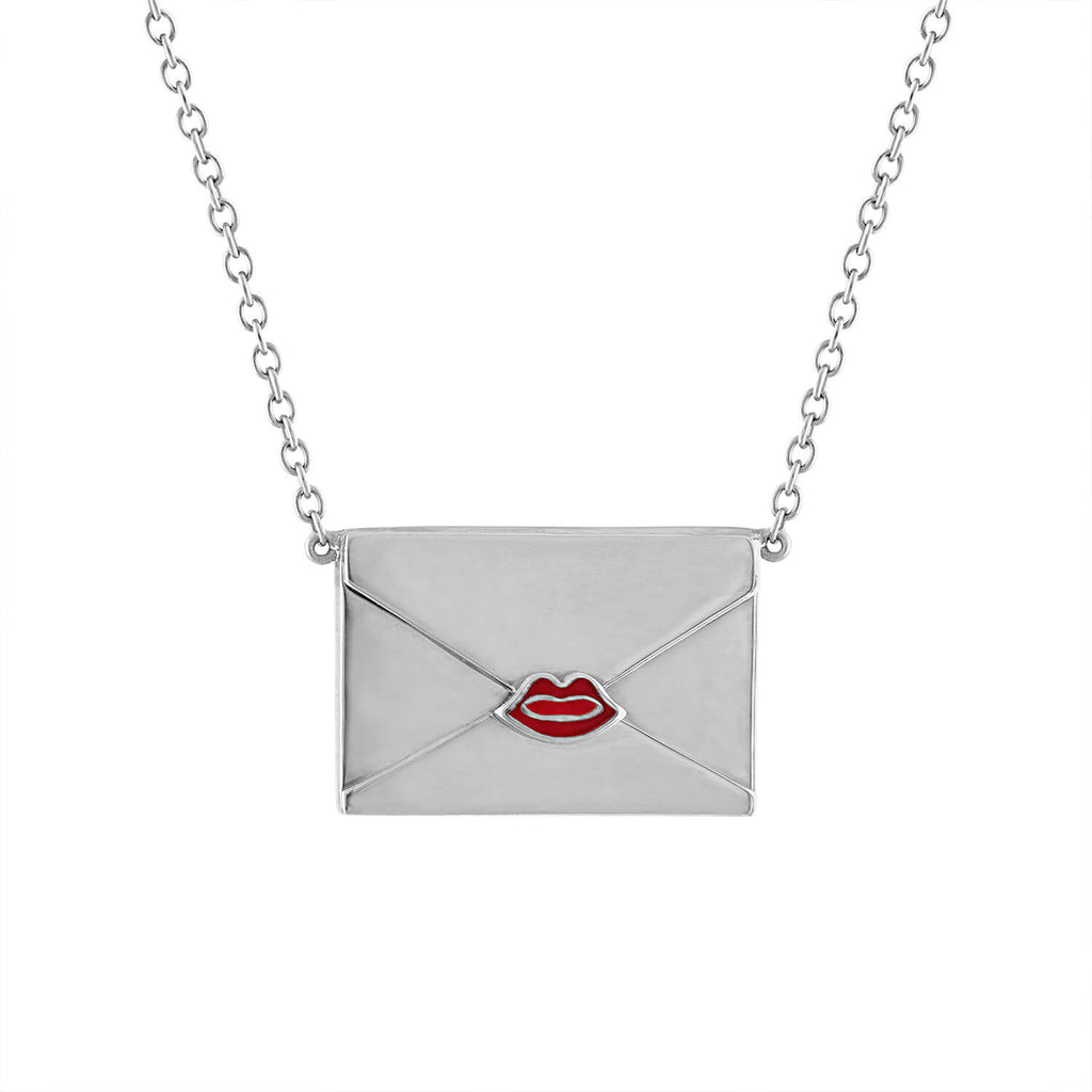 Gold Personalized Envelope Necklace