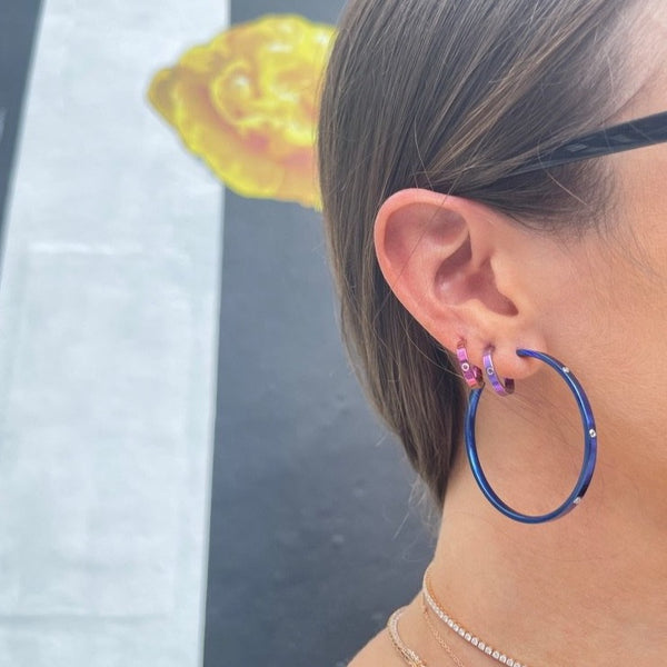 The Electric Dark Blue Hoops