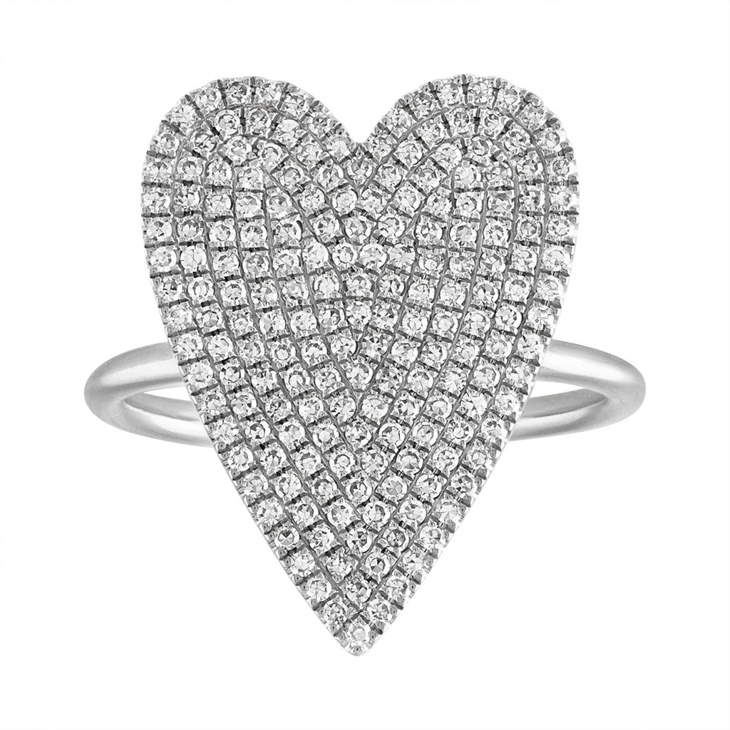 Pave Jumbo Heart Ring