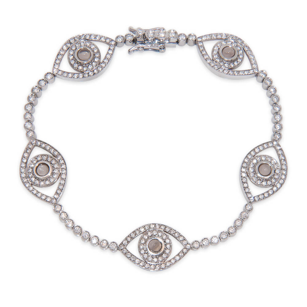 Mini Five Eye Tennis Bracelet