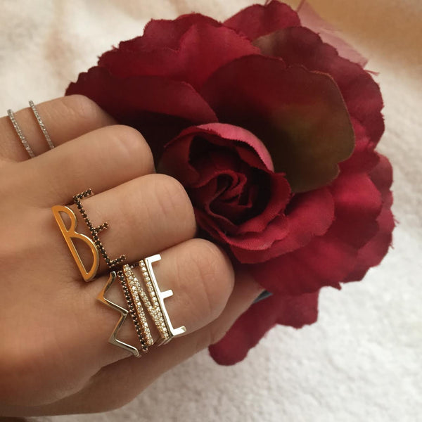 Initial Statement Stack Ring