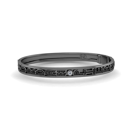 Black Rhodium Slider Bangle
