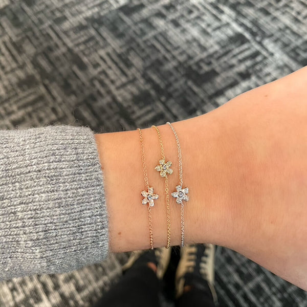 Diamond Flower Bracelet