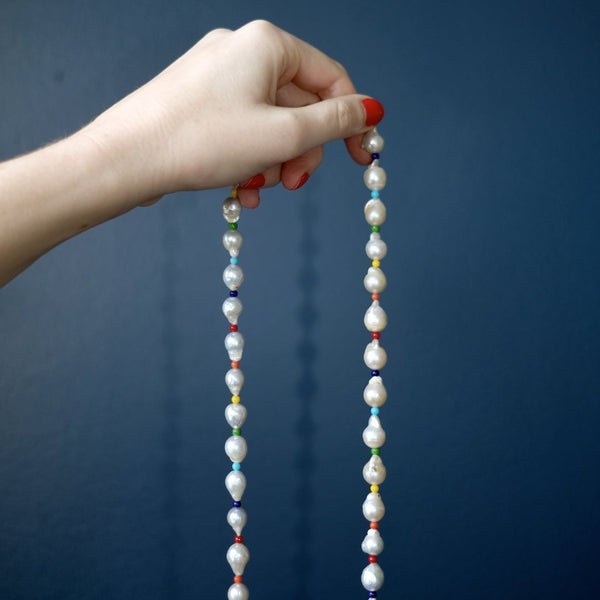 Baroque Pearl Rope Necklace