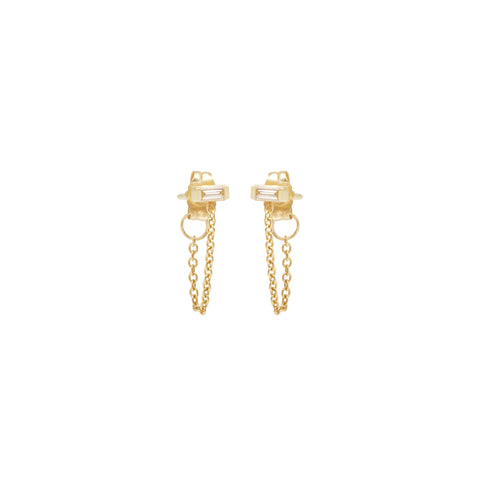 Diamond Shape Chain Studs