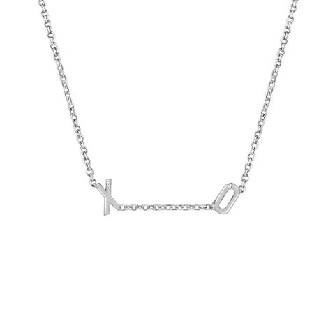 Mini Double Initial Necklace