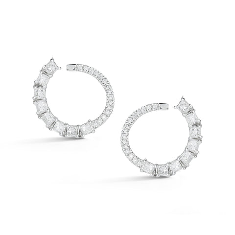 Sadie Pearl Diamond Earrings
