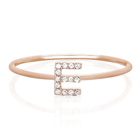 Diamond Initial Stack Ring