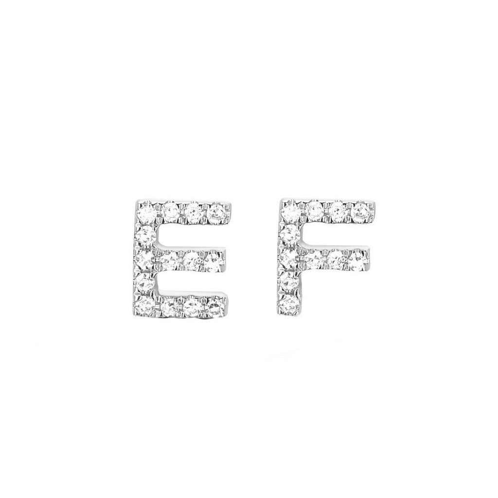 829aaf6ca Mini Diamond Initial Stud Earrings. $ 295.00. EF Collection