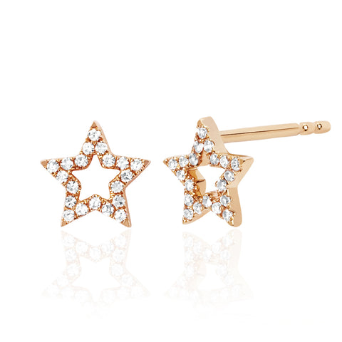 Open Star Diamond Studs
