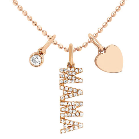 Diamond Mama Charm Necklace