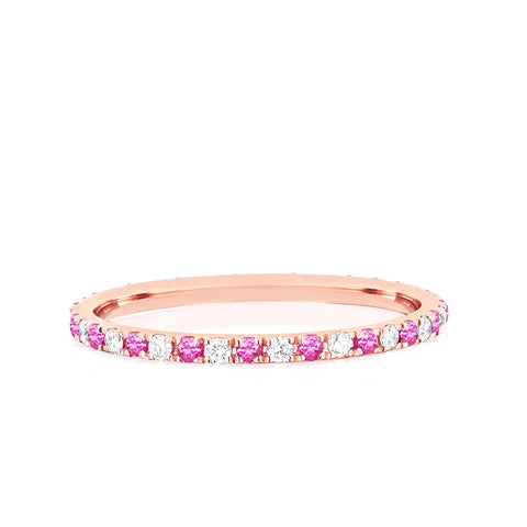 Diamond & Colored Gemstone Eternity Dot Ring