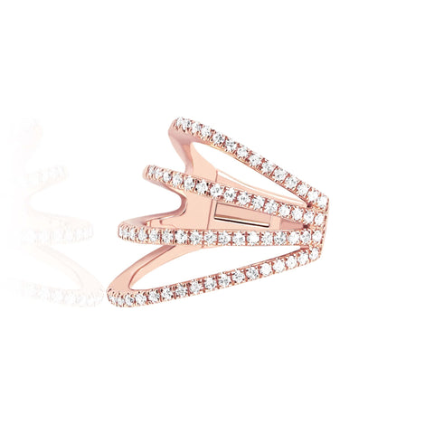 Diamond Cage Ear Cuff (No Piercing)