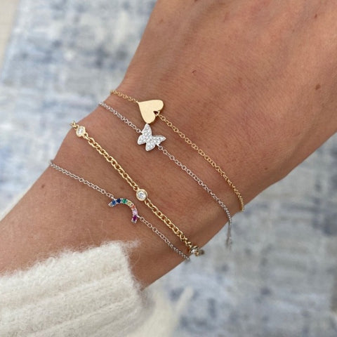 Diamond Butterfly Bracelet