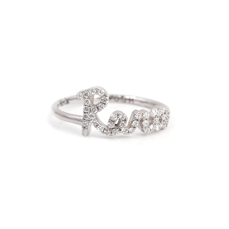 Call My Name Pave Diamond Ring