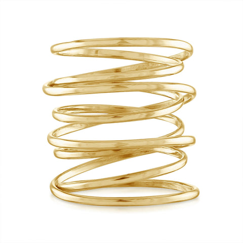 Flexible Wire Statement Ring